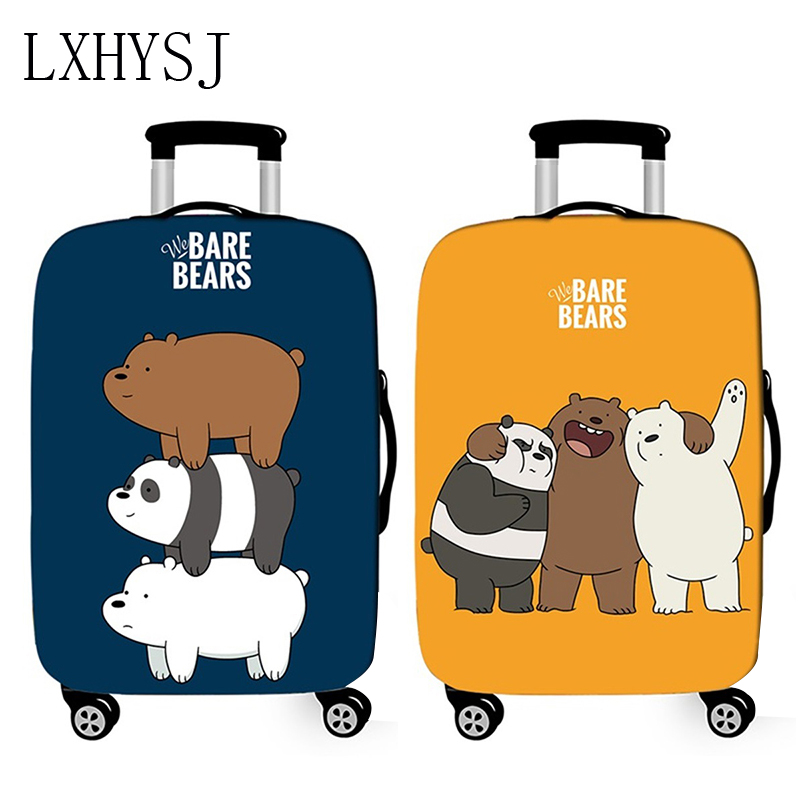 Cartoon Bear Travel Luggage Cover Elasticity Suitcase Protective Covers Suitable For 18-32 Inches Thicken Trolley Suitcase Cover