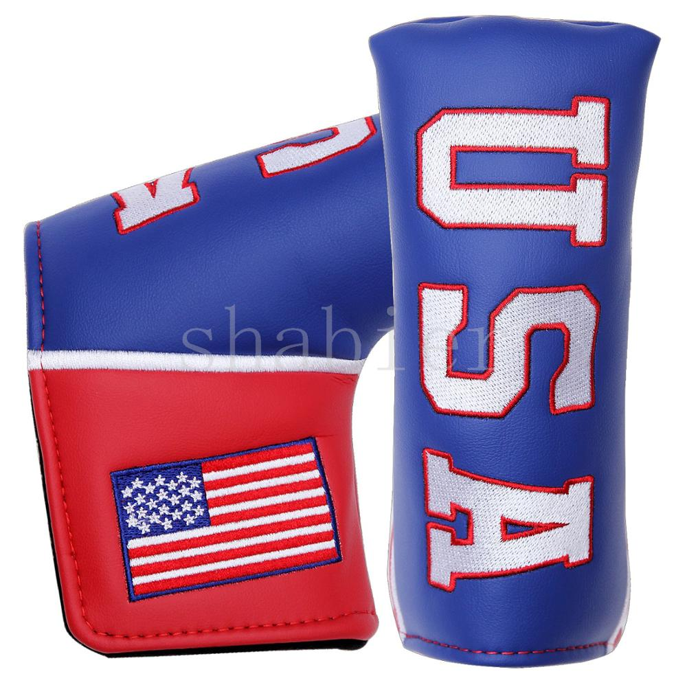Golf Putter Headcover USA Blade Putters Head Cover PU Protect Covers