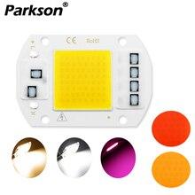 Светодиодный чип COB AC 220 В, 20 Вт, 30 Вт, 50 Вт, Smart IC, не нужен драйвер, DIY светодиодный светильник с бусинами для прожектора, светодиодный прожектор, белый свет