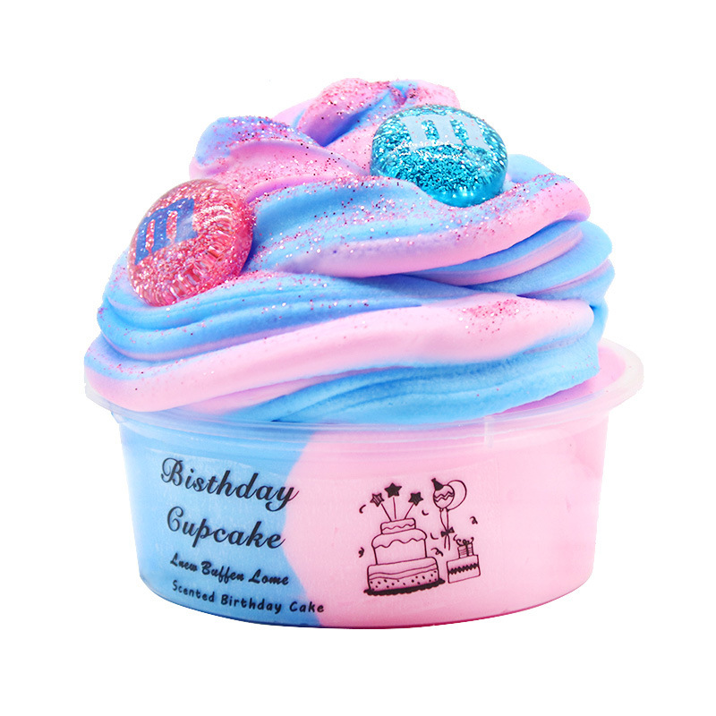 New 60ml Fluffy Slime Polymer Mud Starry Ball Cake Charms DIY Antistress Toy Putty Children's Gift
