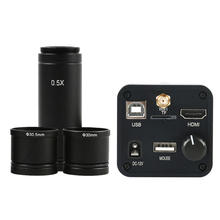 36MP 1080P 60FPS HDMI USB واي فاي الإلكترونية العدسة كاميرا فيديو مجهر + 0.5X C جبل عدسة ل ميكروسكوب بيولوجي