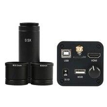 Câmera microscópica eletrônica, 36mp 1080p 60fps hdmi usb wi fi microscópio ocular eletrônico câmera + 0.5x c lens mount para microscópio biológico