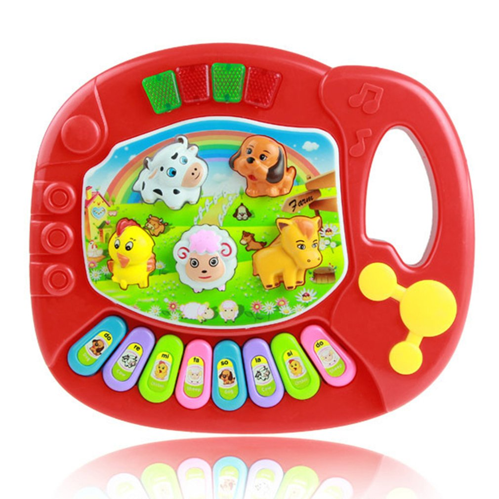 Popular Musical Instrument Toy Baby Kids Animal Farm Piano Developmental Music Toys For Children