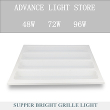 48W 72W 96W LED panel light 600x600 595x595 600*600 595*595 60*60 square indoor ceiling lamp led driver Grille lamp