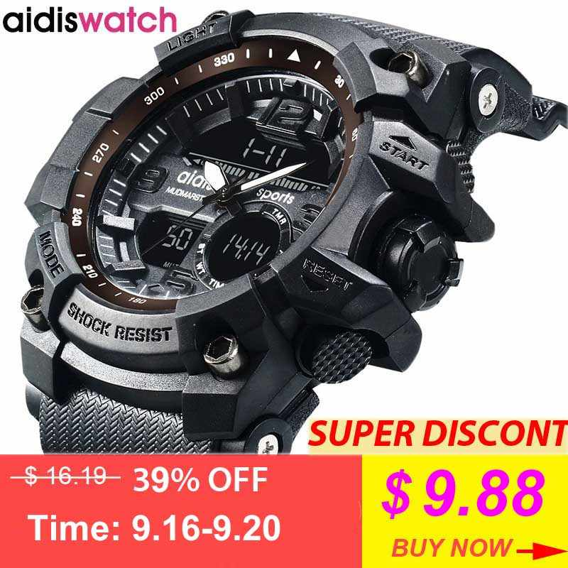 New Brand Addies Fashion Watch Men G Style Waterproof Sports Military Watche Shock Luxury Analog Digital Sports Watches Men