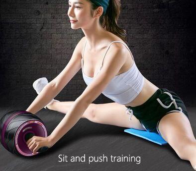 Equipo de Fitness equipo para ejercicio muscular Home Ab rodillos de una rueda Abdominal Power Wheel gimnasio rodillo Abs entrenamiento - 3