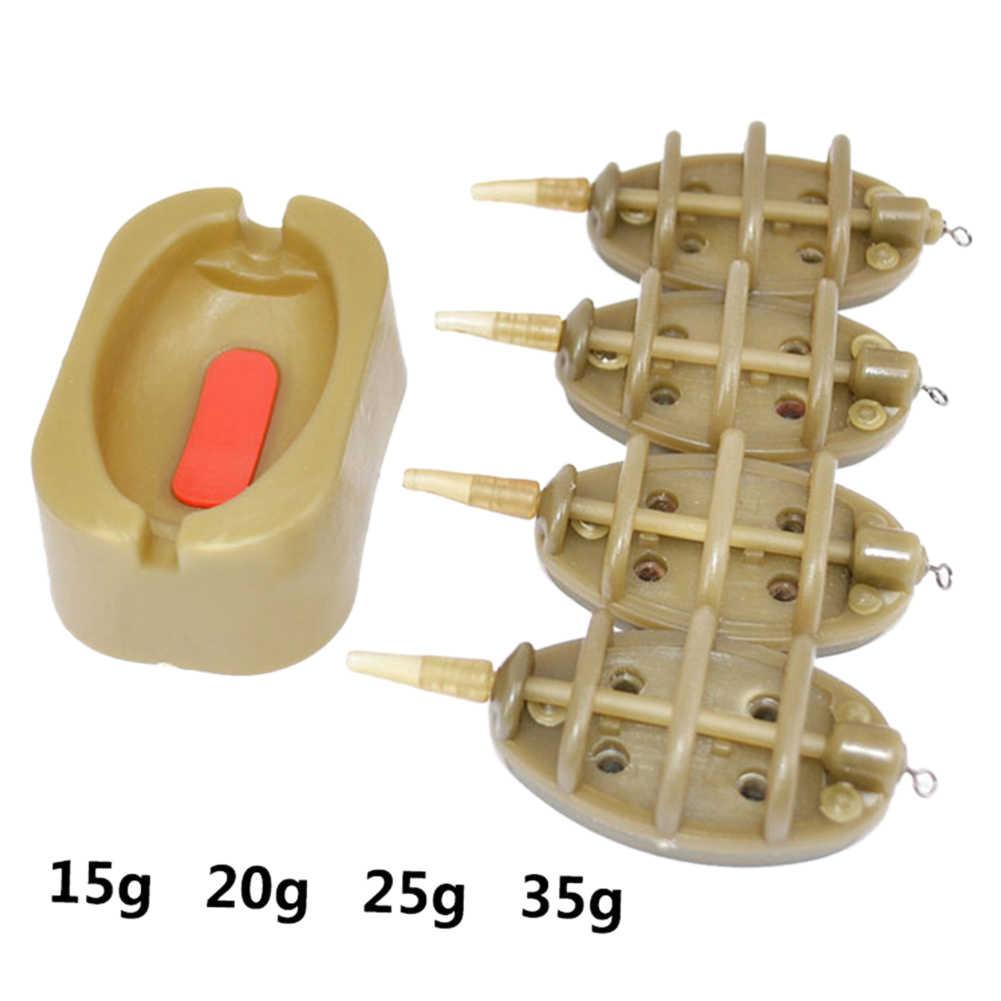Outils de taille multiples durables accessoires de moule méthode plate robuste extérieure mangeoire en ligne carpe pêche appât lanceur Portable