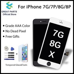 GREAT PARTS 1PCS LCD For iPhone 7 7 Plus 8 8 Plus X XS LCD Oled Display Touch Screen Assembly Replacement Good 3D touch