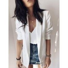 2020 New Women Jackets Blazer Pink White Black Casual Office Blazers