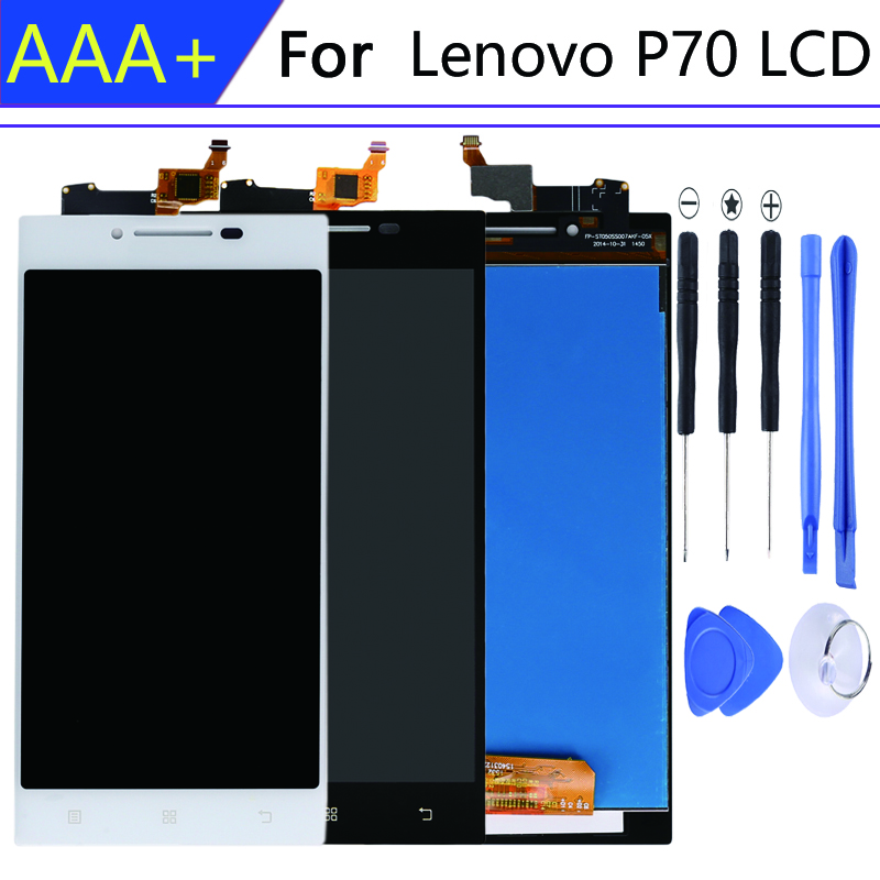 LCD <font><b>Display</b></font> Monitor Screen + Touch Screen Digitizer Sensor Panel Glass Assembly With Frame For <font><b>Lenovo</b></font> <font><b>P70</b></font> <font><b>P70</b></font>-t P70t <font><b>P70</b></font>-A P70A image