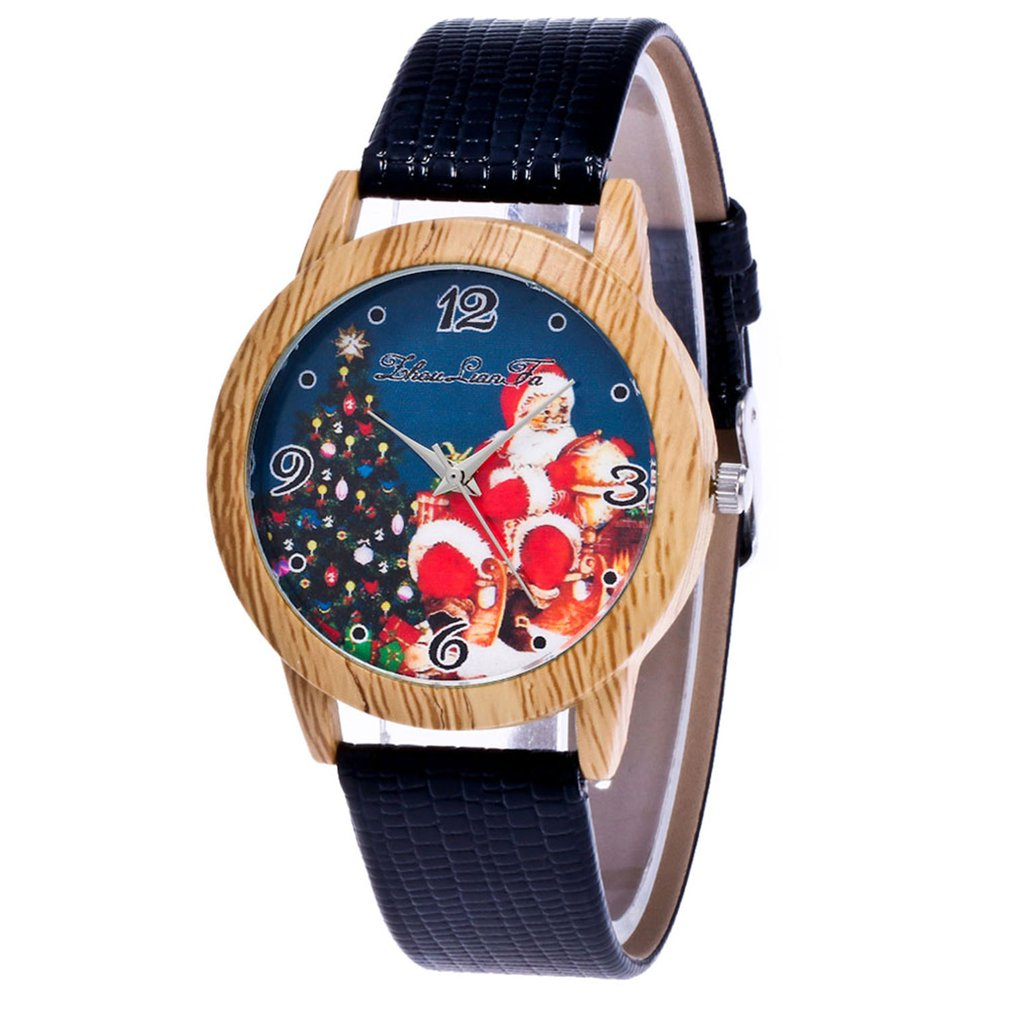Top Brand Lady's Wooden Side Belt Quartz Watch Business Lady Watch Christmas Gift Clock Reloj Mujer Saat Relogio Zegarek Damski