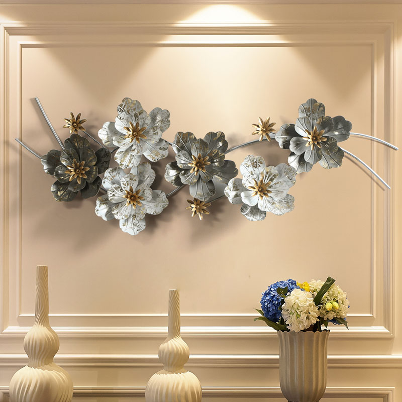 Настенные металлические железные настенные украшения для скандинавского фона, креативные настенные украшения для гостиной, цветок, Декор для дома|Ловцы снов и подвесные украшения|   | АлиЭкспресс