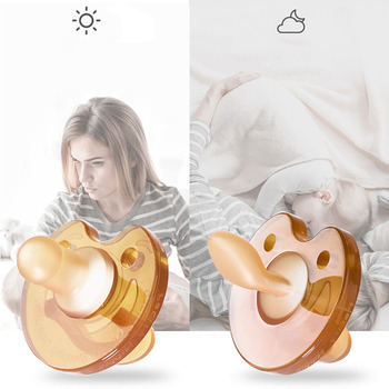 Baby Cartoon Pacifier Baby Silicone Pacifier Breast Milk Round Head Baby Pacifier Dummy Nipples Sleeping Pacifier AXA067 фото