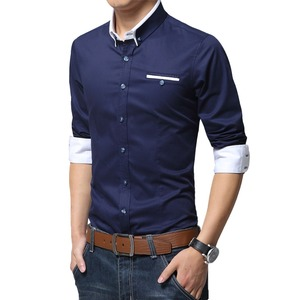 Image 3 - TFETTERS Newest Cotton Men Shirt Casual Shirt Long Sleeve Solid Color Regular Fit Plus Size Mens Shirts