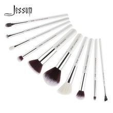 Jessup Beauty 10 ชิ้นแพะผมสังเคราะห์แปรงแต่งหน้าอายแชโดว์คอนซีลเลอร์เครื่องสำอางค์ชุด 5 สี