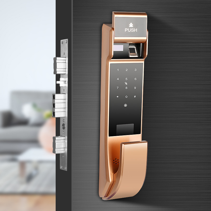 Puredown Fully Automatic Fingerprint Lock Smart Door Lock Home Villa Lock Inner Door Anti-Theft Door Electronic Lock Password Lo