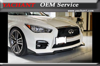Car-Styling Carbon Fiber Front Splitter Fit For 2014-2015 Infiniti Q50 Sedan ST Style Front Bumper Lip (For Q50S Normal Bumper)