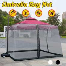 New Umbrella Mosquito Net For Home Bed Outdoor Camping Double sided zipper Black White Outdoor Mesh Cover Anti-mosquito(China)