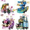 Disney Serices Classic fairy tale Anime Movie Toy Building Blocks Mickey Minnie Duck modello castle lockstoy regali per bambini