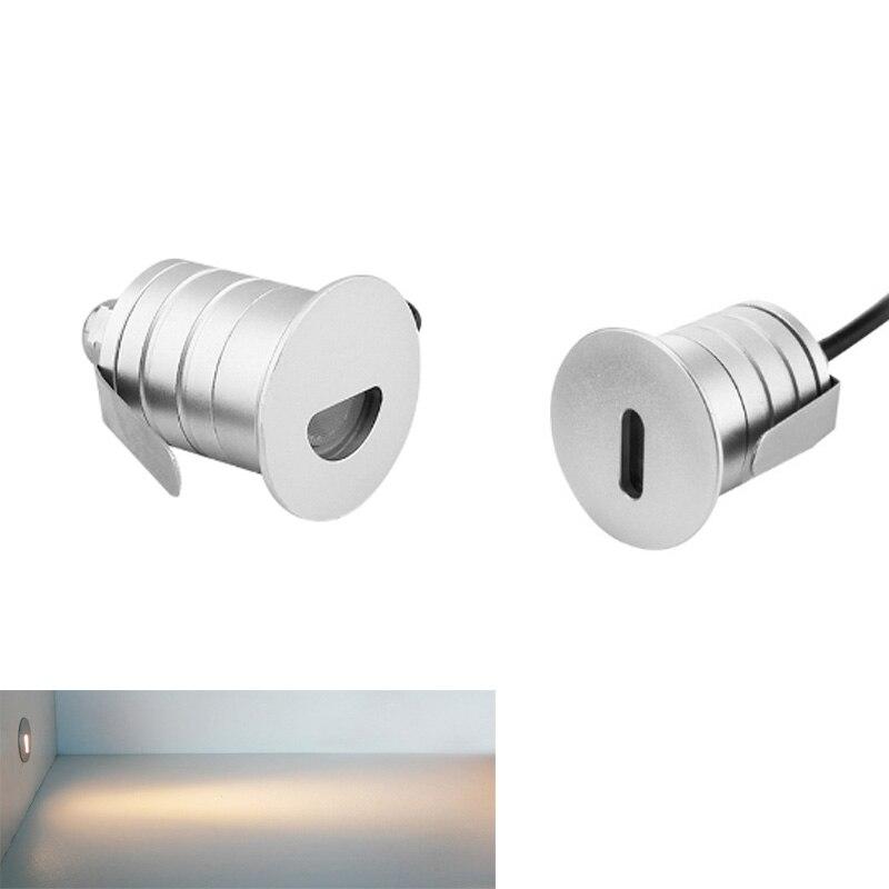 LED Underground Light DC12-24V Inground Light IP67 Waterproof Recessed Stair Light Deck Lamp 1W 3W Floor Wall Spotlight