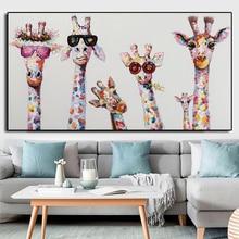 Diamond Painting Cartoon Diamond Embroidery Cross Stitch Animal Mosaic Diamond Art Wall Painting Handicraft Giraffe Home Decor