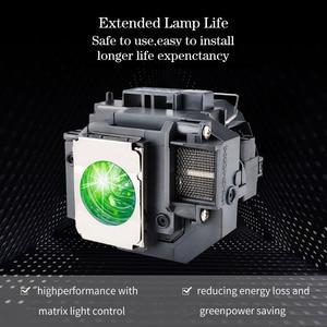 Image 2 - החלפת מנורת מקרן ELPLP58 עבור EPSON EB S10 EB S9 EB S92 EB W10 EB W9 EB X9 EB X92 EB X10 עם דיור