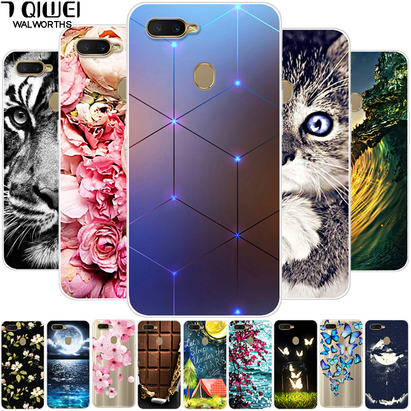 For OPPO AX7 Case 6.2'' Silicone Soft Phone Case For OPPO A7 OPPOA7 CPH1901 Case TPU Clear For OPPO A5S AX5S A7 A 7 ax7 a x7 image