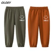 2019 Fashion Smiley Pants Girls Autumn Spring Leggings Unisex Boys Casual Pants Stretch School Children Pants 3-8 Years Old цена и фото