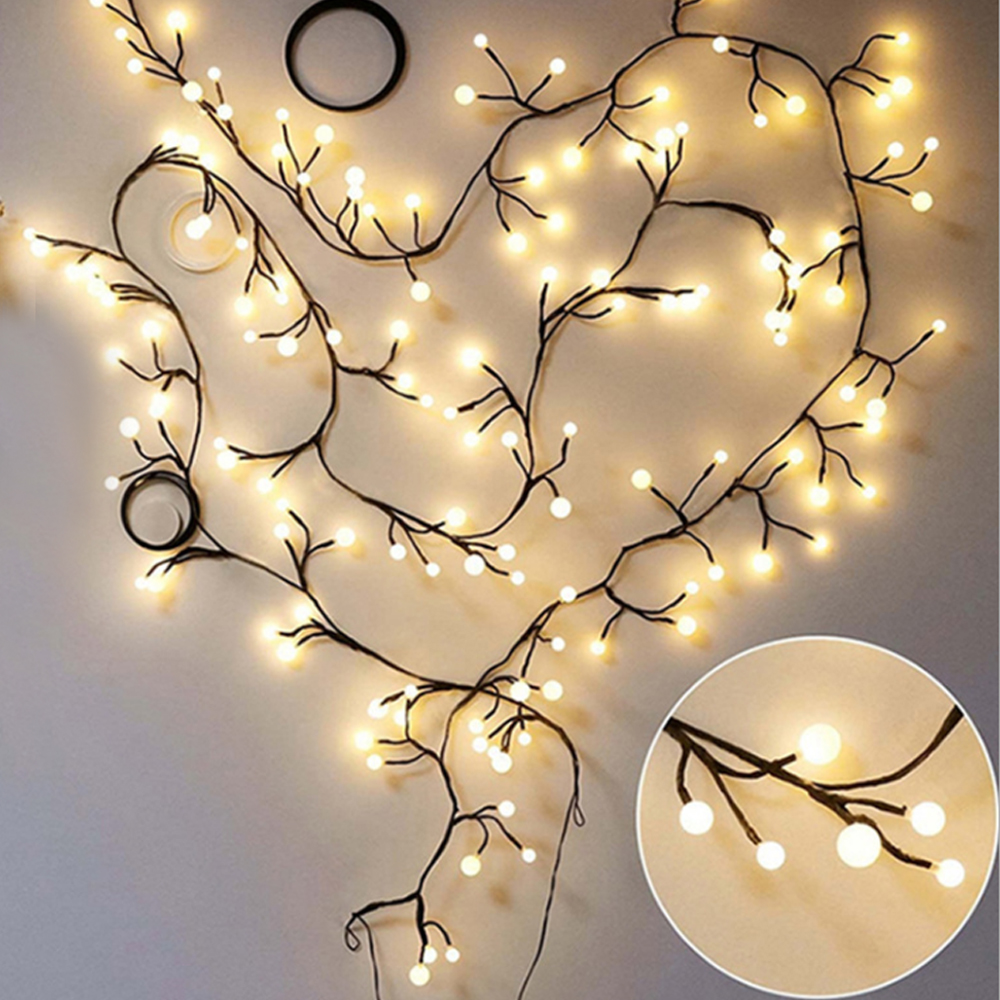 DIY Shape Bendable 2.5M 60LED Tree Rattan Branches Led String Light Outdoor Fairy Lights For Christmas Party Wedding Decoration