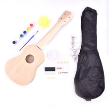 Kit Ukulele de 21 pouces, guitare hawaïenne musicale avec sac, accordeur, sangle, médiators et plus