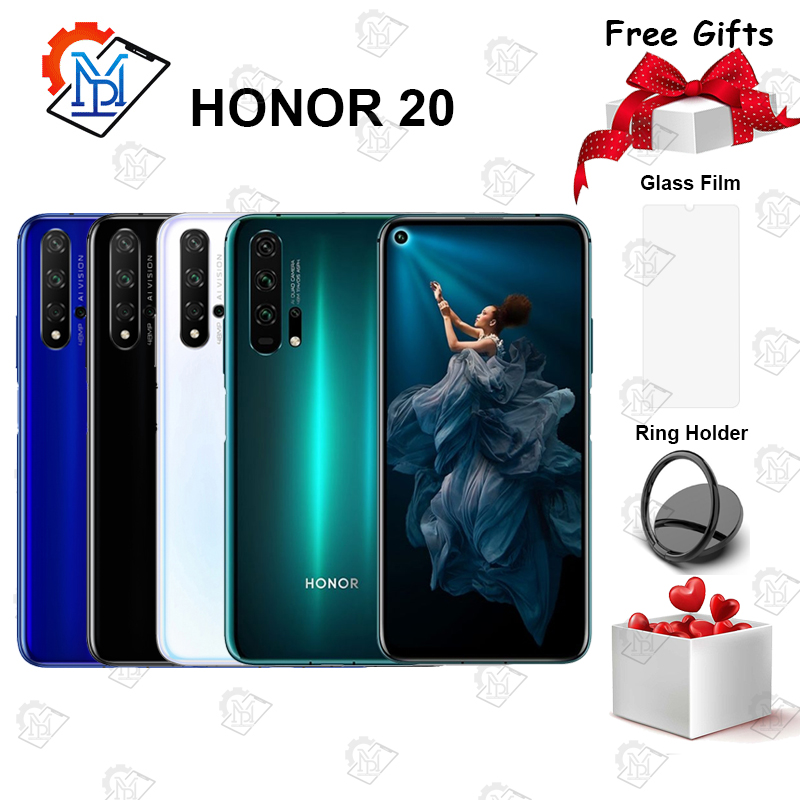 Original HONOR 20 Mobile Phone 6.26 inch Kirin 980 Octa Core 8GB 256GB capacitive screen 3750mAh SuperCharge NFC