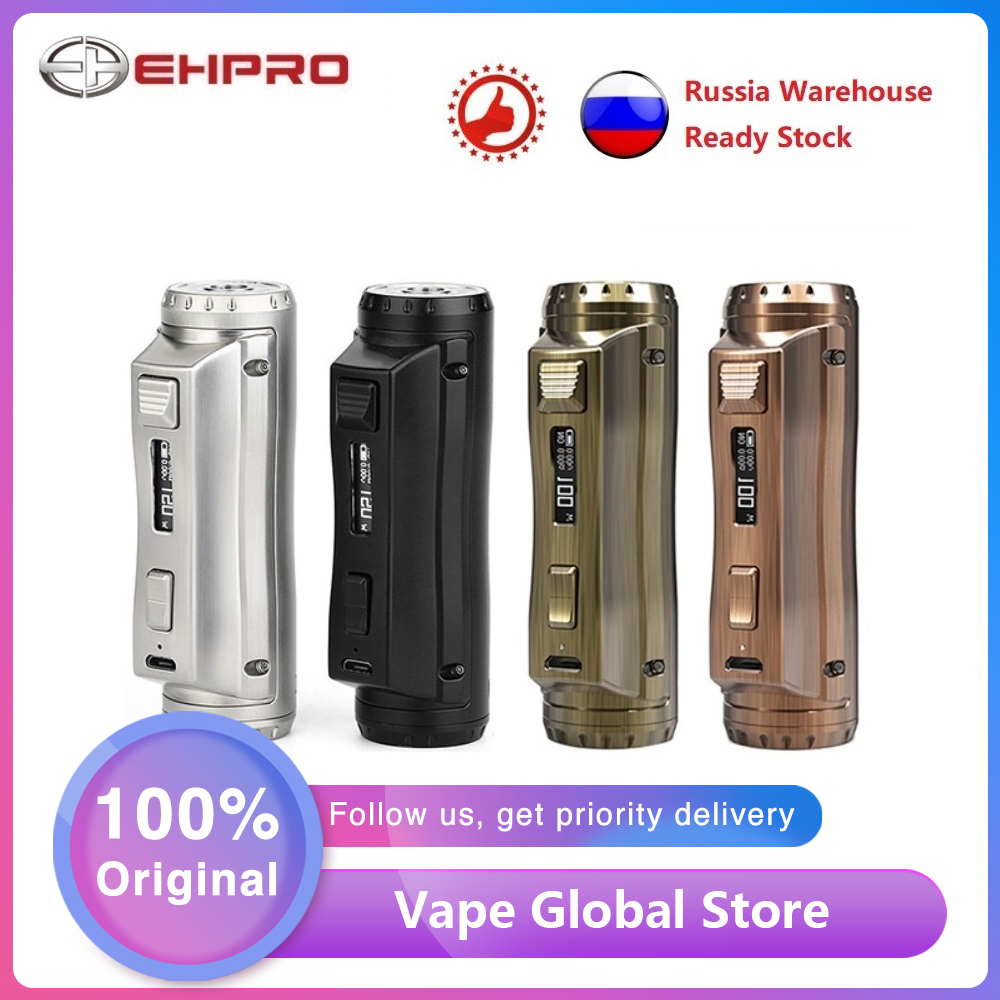 Original Ehpro Cold Steel 100 120W TC Box MOD Fast Firing Speed E-cig Vaping Mod Powered By 18650/20700/21700 Battery Vs Drag 2