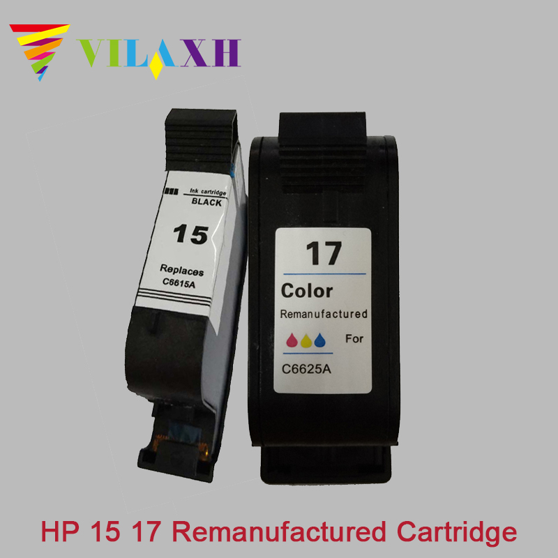 Vilaxh compatible Ink <font><b>Cartridge</b></font> 15 17 replacement for <font><b>hp</b></font> 15 17 DeskJet 840 15 842 843 845c 2110 7550 2110 3325 <font><b>5550</b></font> printer ink image