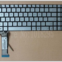 Laptop Keyboard Layout Backlit Silver G551 ASUS English-For-Asus
