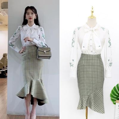 Butterfly Knot T-shirt +skirt For Women DEL LUNA Hotel Same IU Lee Ji Eun Maternity Clothes Summer Top Pregnancy Pregnant Coat