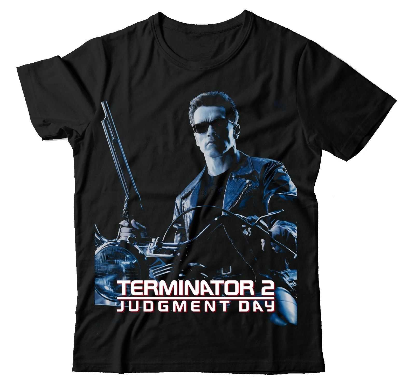 "THE TERMINATOR 2 ""day ARNOLD fyegger BBMT511 T-Shirt UNISEX T-Shirt con stampa uomo manica corta Top Tee Plus Size(1)"