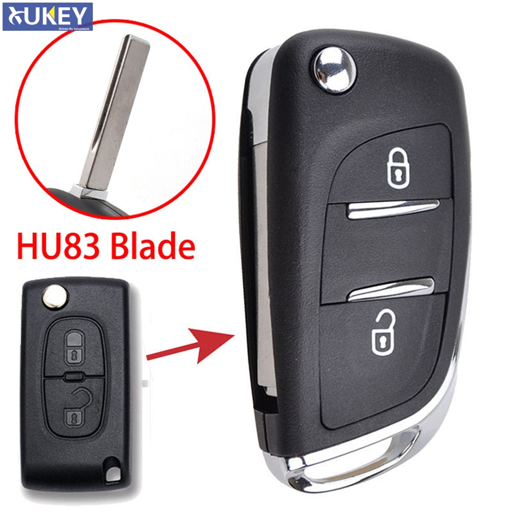 2 Button Remote Control Key Fob Case Shell Fits for Peugeot 2008 3008 Key Fobs