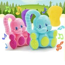 Sonajeros de elefante y ciervo para bebé, juguetes educativos para niños, para recién nacidos, móvil, cuna, cochecito, plástico de Seguridad, 1 ud.