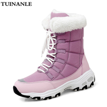 TUINANLE Ankle Boots for Women Winter Shoes Keep Warm Waterproof Snow Boots Ladies Lace-up Plus Size 42  Boots Chaussures Femme