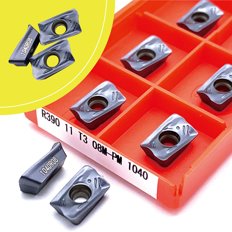 R390 11T308 PM 1025 1130 1030 1040 4240 Carbide Inserts For Indexable Face Milling Turning Tools Cutter CNC Milling Machine
