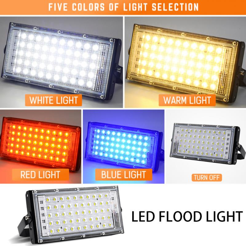 AC 220V 50W LED Security Floodlight 50W Flood Lights Indoor Outdoor Garden Waterproof Lamp Spotlight Street Lighting Dropshippin