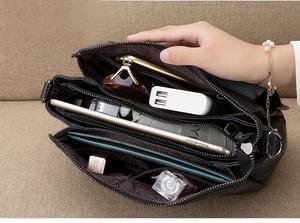 Image 5 - Bolsa de couro legítimo pendurado, bolsa feminina modelo carteiro com aba