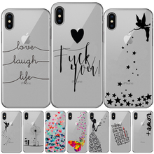Love Laugh Life Silicone Case For iPhone 11 Pro XR XS Max Butterfly Tinkerbell Case For iPhone X 8 7 6 6S Plus 5 5S SE TPU Cover aertemisi lebron james andre iguodala allen iverson tyronn luee clear tpu case cover for iphone 5 5s se 6 6s 7 plus
