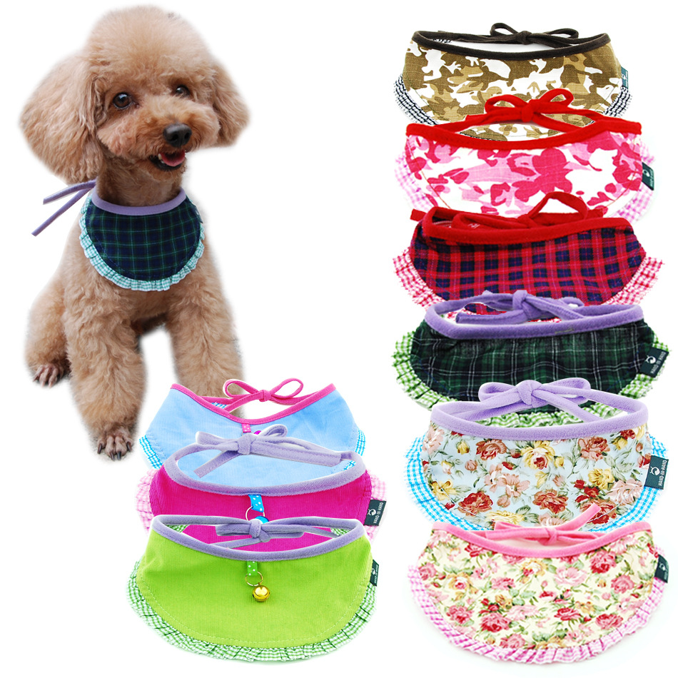Hand-in-hand Pet Supplies Pet's Saliva Towel Dogs And Cats Lace-up Scarf Ribbon Pet Triangular Scarf Bib Scarf
