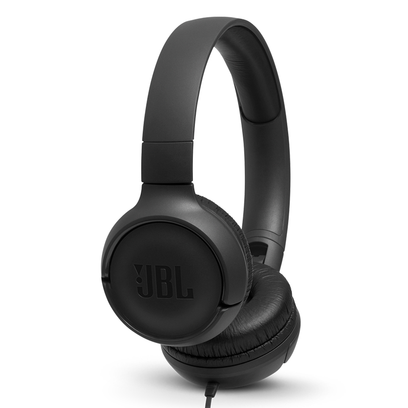 Original JBL T500 Wired Pure Bass Headphone Sports Game Gym Headset Foldable Earphone 1 button Remote Light with Mic for iPhone - 5