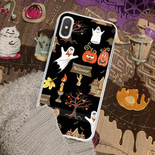 Phone Case For iPhone X XS Max 6 S Plus Skull Pumpkin Boo Spooky Halloween 7 8 P XR Covers