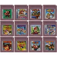 Cartucho de videogame para nintendo gbc, cartucho de jogos eletrônicos de 16 bits para nintendo gbc, super mariold, edição de língua inglesa