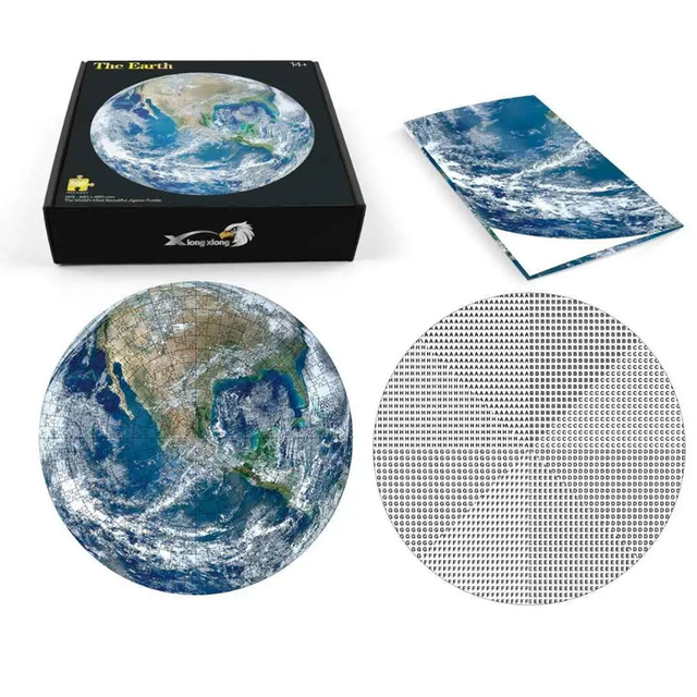 Jigsaw Puzzle 1000 Piece Planet Puzzle Early Education Toy Adult Children Family Game Toys DIY Stress Relief Educational Toys 5