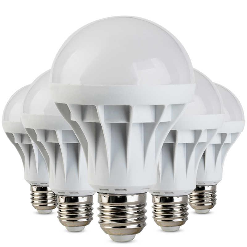 Bombilla LED E27 Bombillas lámpara Spotlight luz 220V ampolla lampadora SMD 5730 3W 5W 7W 9W 12W 15W 20W ahorro de energía iluminación del hogar