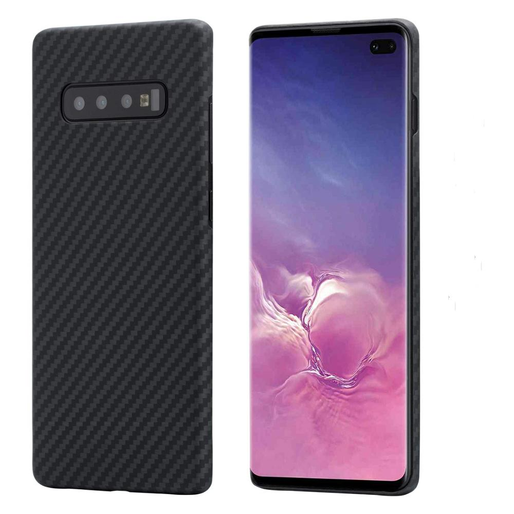 For Samsung Galaxy S9 S10 Plus Designer 100% Real Carbon Fiber Case Ultrathin Full Peotection Aramid Fiber For Note 10 Plus